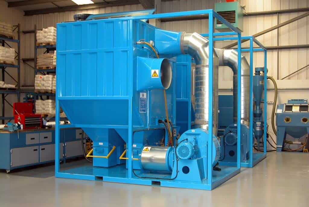 Large portable site dust collector