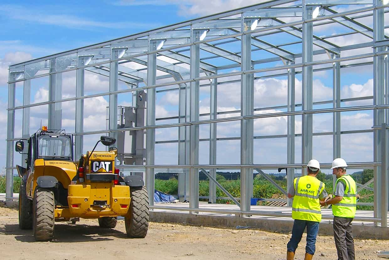 Blast booth construction