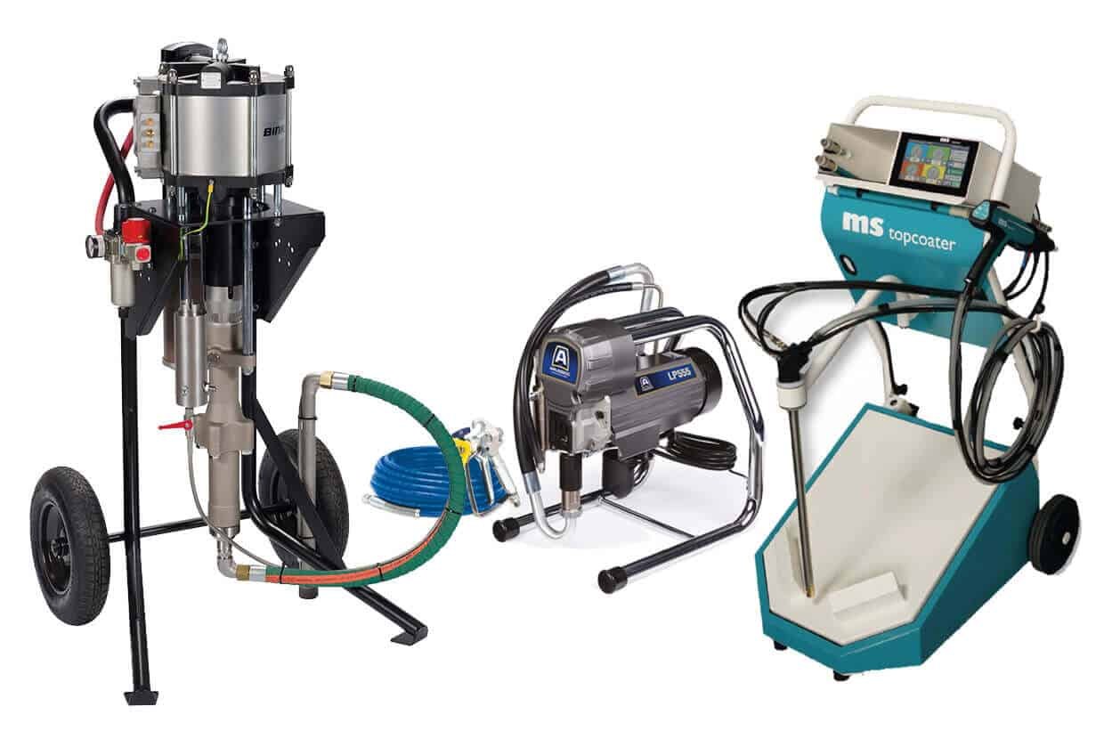 Paint and powder application equipment