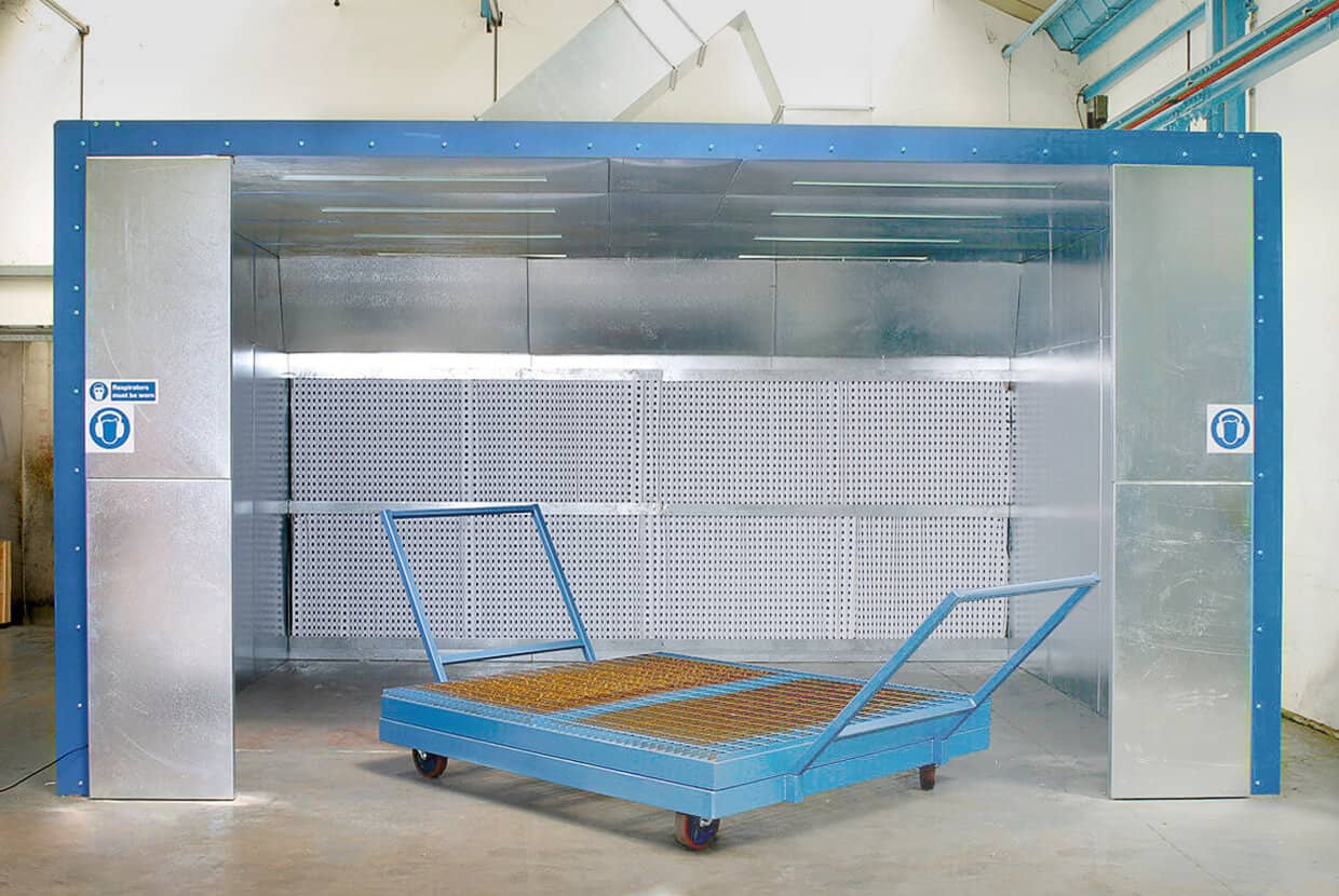 Airblast Dry Filter Spray Booth