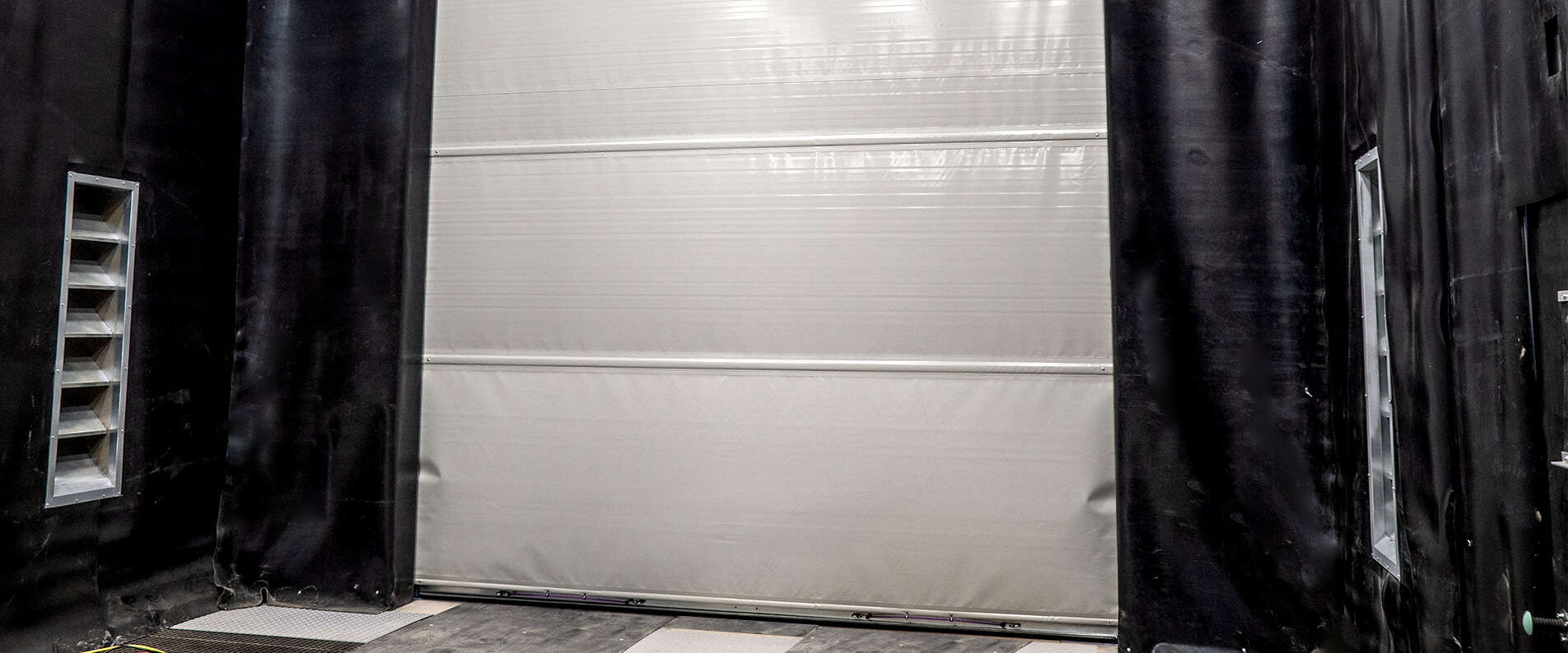 Blast room roller door inside closed