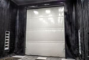 Blast room roller door view from inside