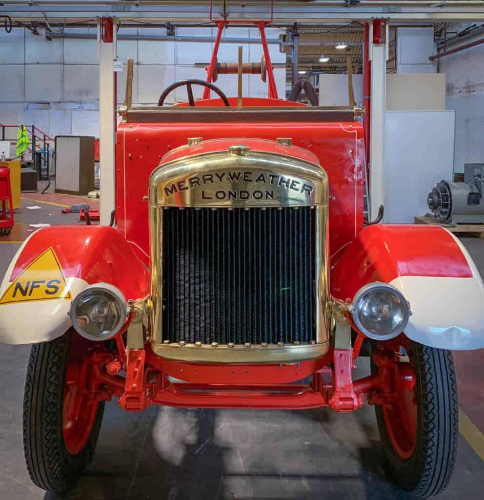 Fire engine under restoration