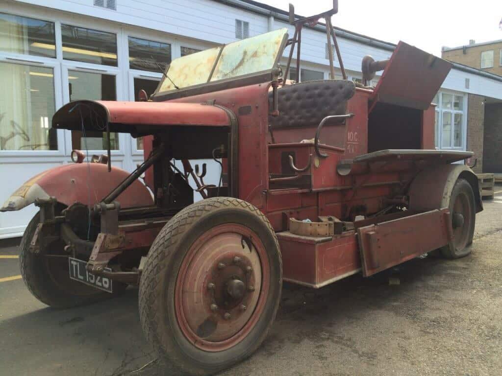 Original Cummins fire engine before restoration