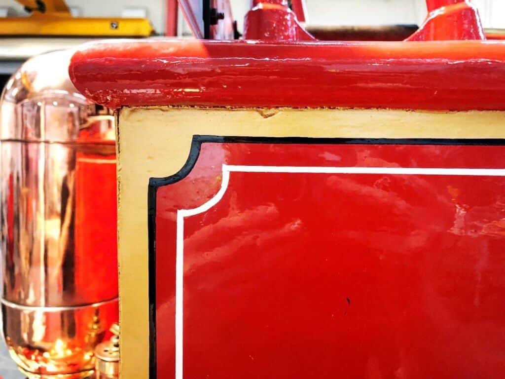 Cummins fire engine close up after