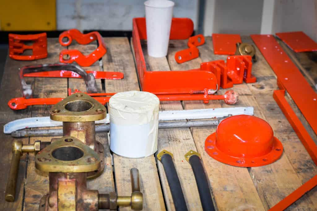 Vintage Merryweather fire engine restoration parts