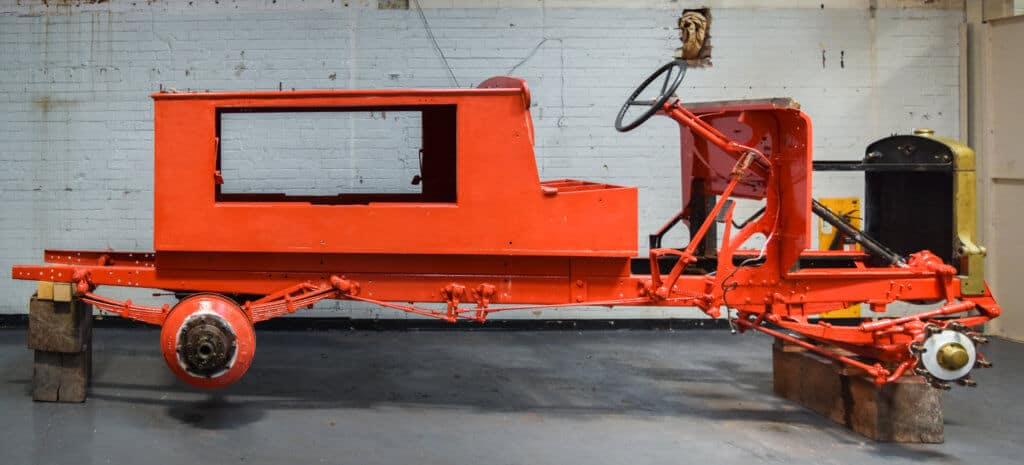 Vintage Merryweather fire engine chassis